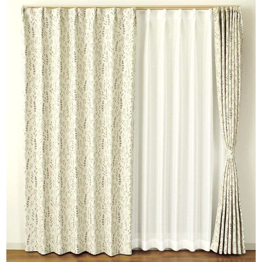 カーテン テンペラ 約100×178cm 2枚組 ブラウン カーテン 厚地カーテン 形状記憶 遮光 かわいい おしゃれ 生地 既製品 無地 可愛い 出窓