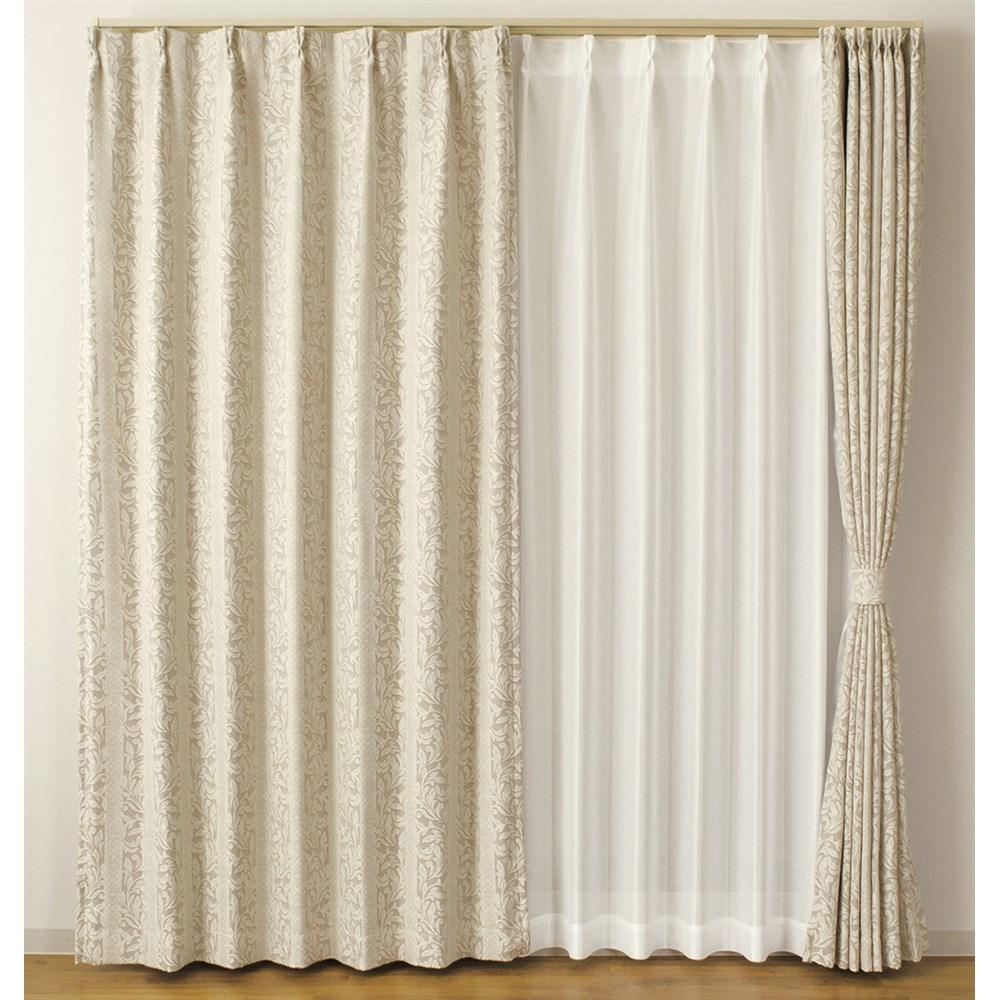 カーテン イーゼル 約100×100cm 2枚組 ベージュ カーテン 厚地カーテン 遮光 形状記憶 かわいい おしゃれ 生地 既製品 可愛い 出窓