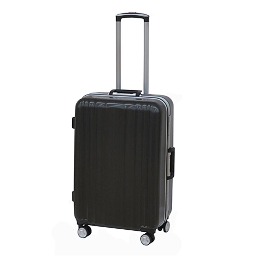 コーナン オリジナル スーツケース アルミフレーム 24インチHBヘアラインブラック【ラッキーシール対応】