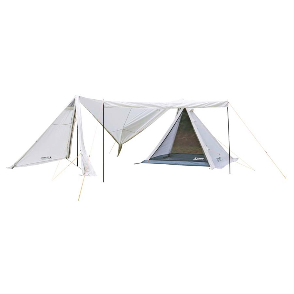 CAPTAN STAG キャプテンスタッグ テント タープ キャンプベース 4~5人用 【680×380×H220cm】 UV・PU加工 キャリーバッグ付き CSクラシックス UA-39※椅子・テーブル等は演出です。
