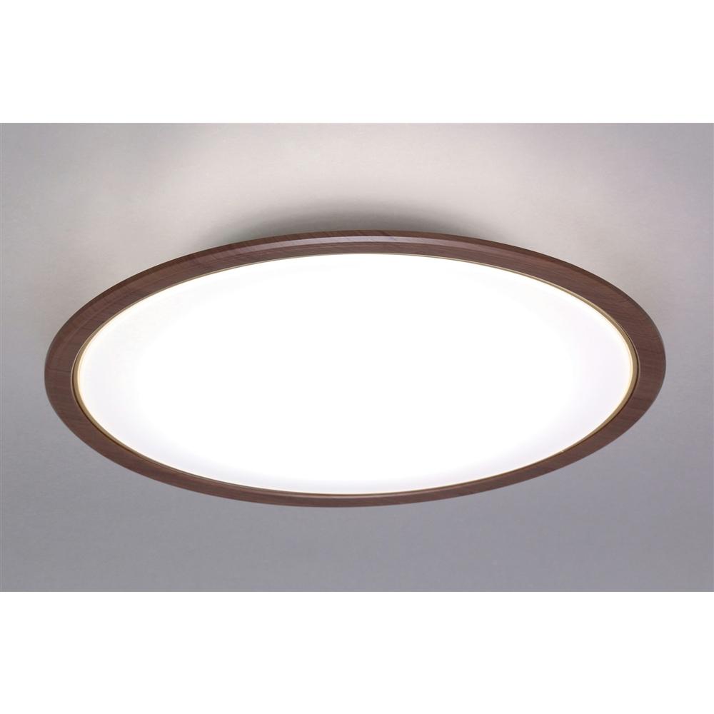 アイリスオーヤマ LEDシーリングライト 5.0シリーズ 木調フレーム 14畳調色 CL14DL-5.0WF-Mウォールナット