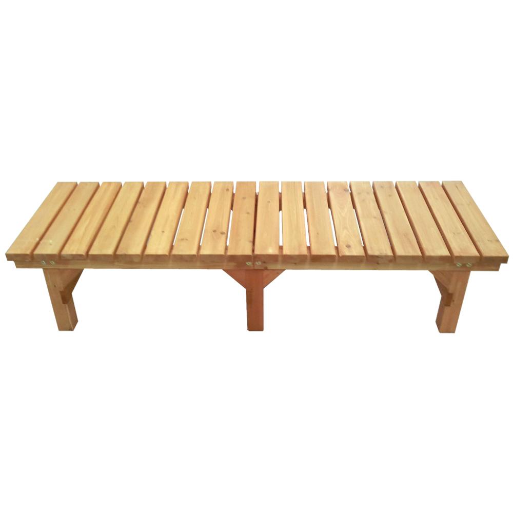 コーナン オリジナル 木製縁台(無塗装) 小 約幅1800X奥行580X高さ400mm 静止耐荷重:約300kg ※お客さま組立品小(奥行580)