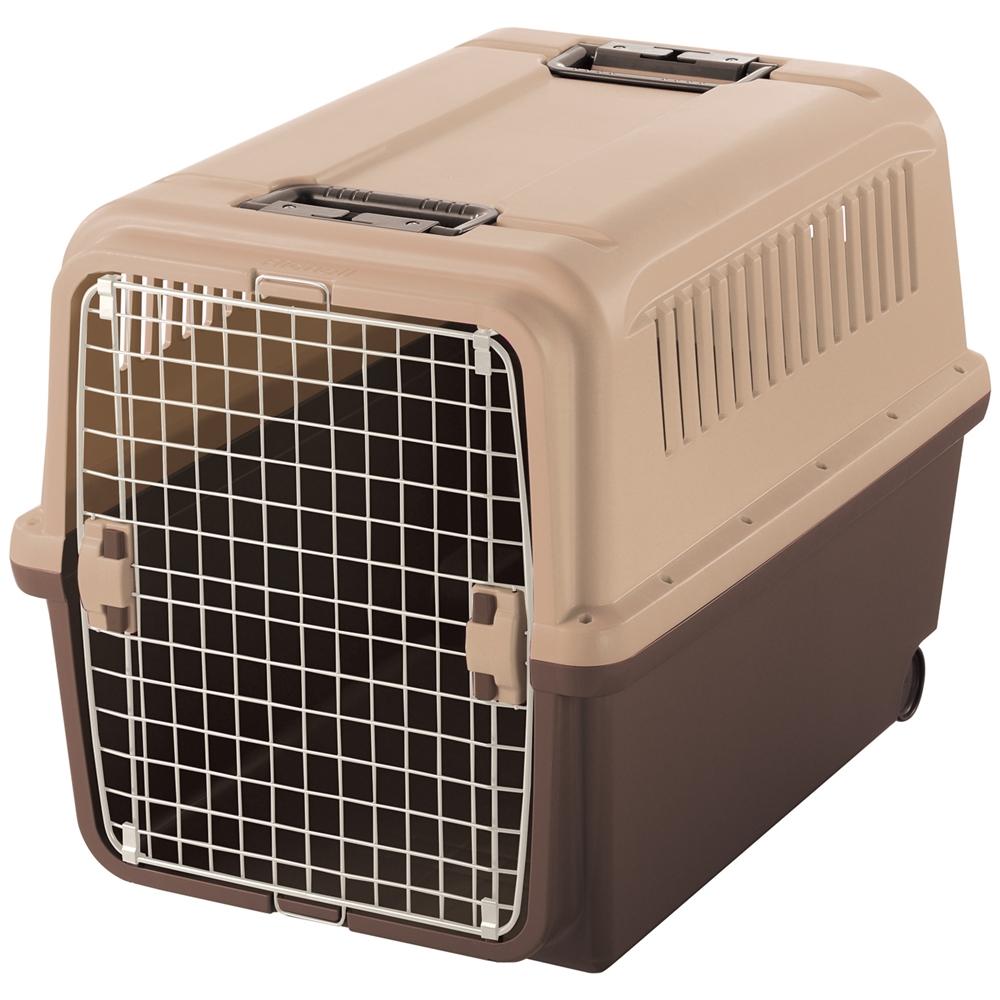 リッチェル キャンピングキャリーXL ダークブラウン ペットキャリー ペットカート ペットキャリーバッグ 猫 折りたたみ 中型犬 飛行機