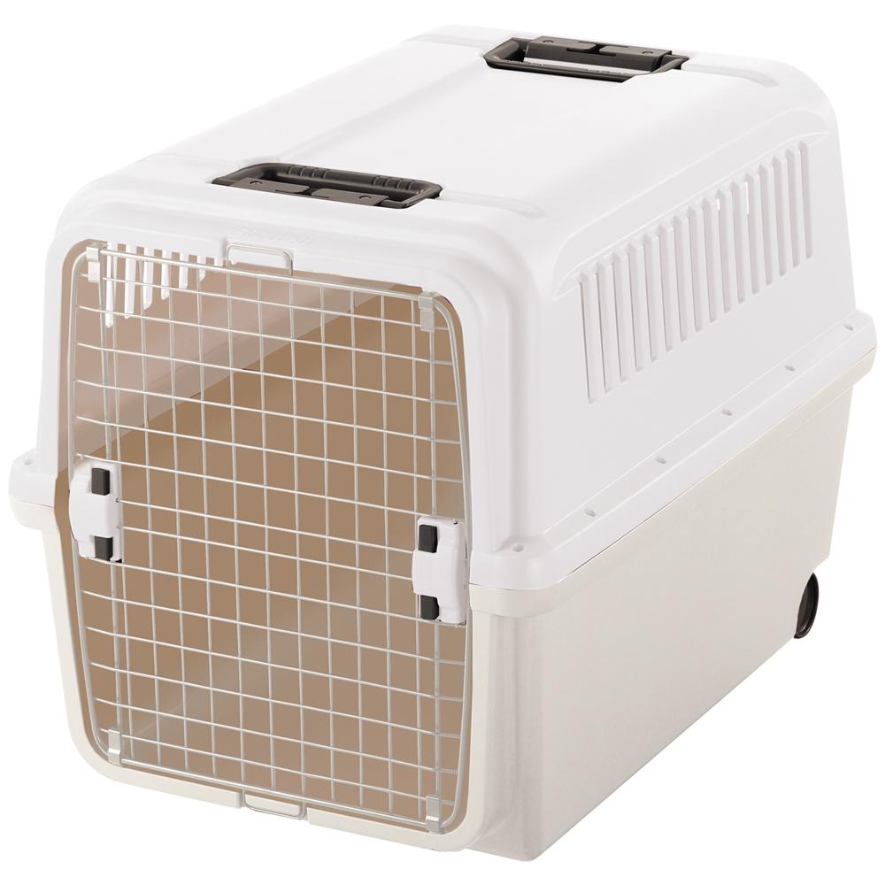リッチェル キャンピングキャリーXL アイボリー ペットキャリー ペットカート ペットキャリーバッグ 猫 折りたたみ 中型犬 飛行機