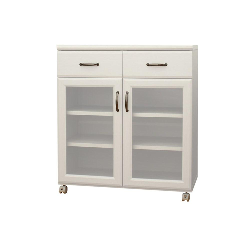 コーナン オリジナル 食器棚8575 KR18-0103-CWホワイトオーク