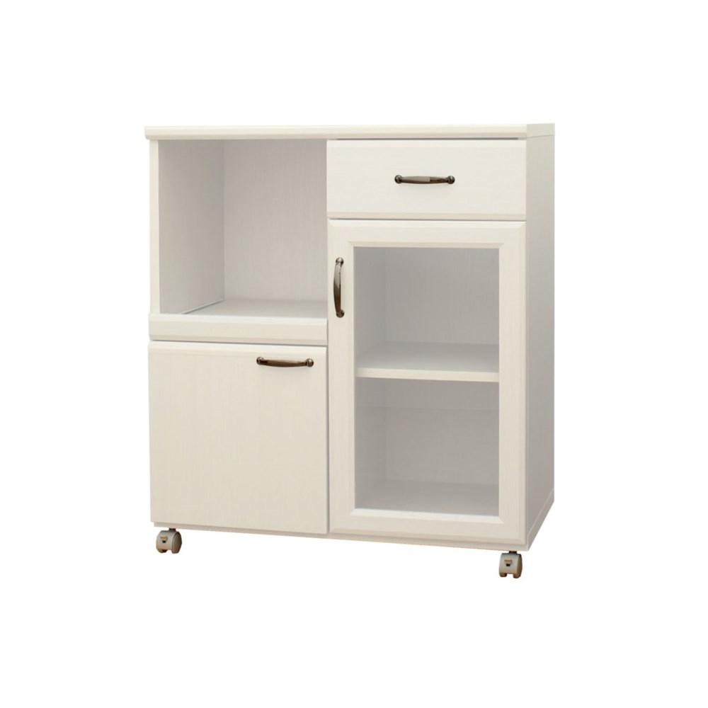コーナン オリジナル 食器棚8575 KR18-0110-SLホワイトオーク