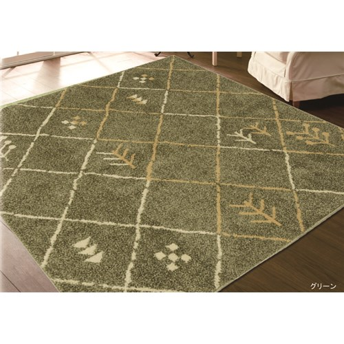 トーホー 中敷ラグ バブーシュ 185×240cm GNグリーン