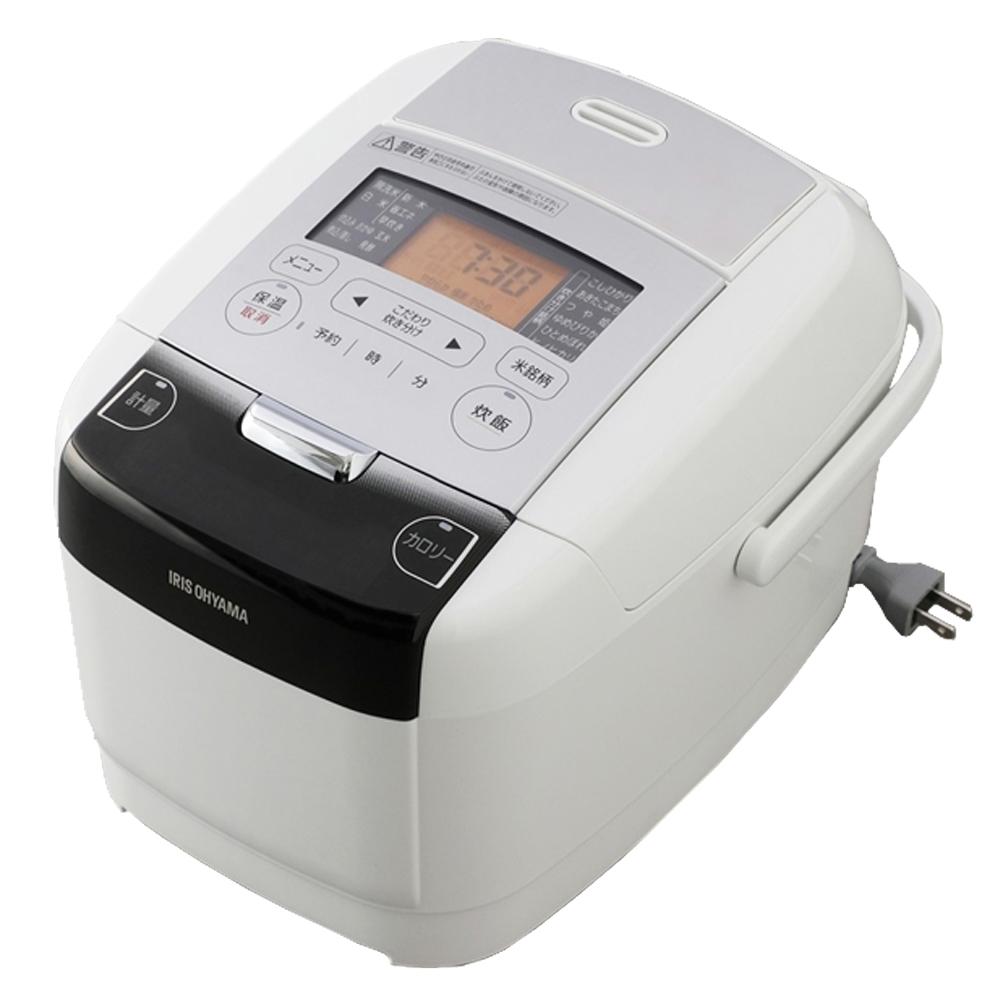 アイリスオーヤマ(IRIS OHYAMA) 炊飯器 IH 3合 極厚火釜 銘柄量り炊き ホワイト RC-IC30-W