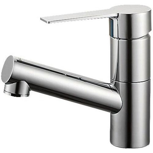SANEI (三栄水栓) 【洗面用混合栓】 シングルワンホール混合栓 ポップアップなし、ゴム栓なし 標準地仕様