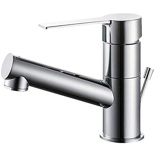 SANEI (三栄水栓) 【洗面用混合栓】 シングルワンホール混合栓 ポップアップ用 座金付 標準地仕様