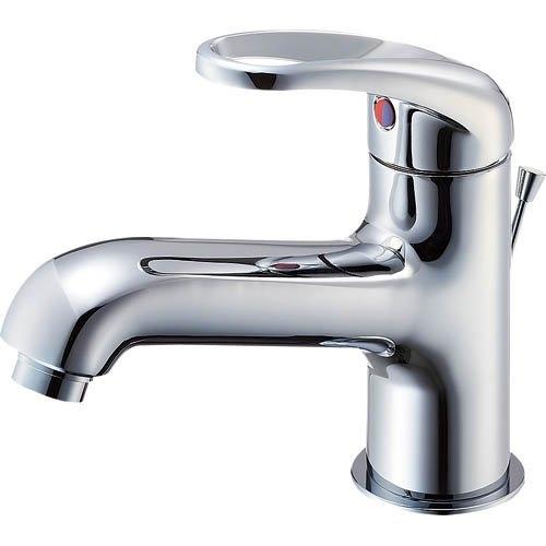 SANEI (三栄水栓) SANEI 【洗面所用混合栓】 シングルワンホール洗面混合栓 ポップアップ用 標準地仕様