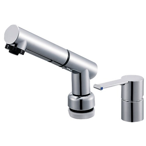 SANEI (三栄水栓) SANEI 【洗面用混合栓(寒冷地仕様)】 シングルスプレー混合栓 洗髪用 引き出しホースの長さ1.2M K37510JKZ