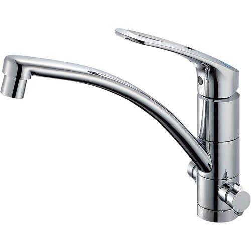 SANEI (三栄水栓) SANEI 節約・エコ シングルワンホール分岐混合栓 寒冷地仕様 取付簡単タイプ K87610JK-S-13