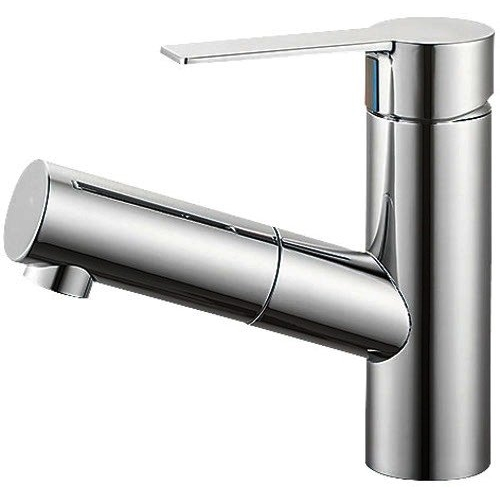 SANEI (三栄水栓) 【洗面用】 シングルワンホール洗面混合栓 泡沫吐水