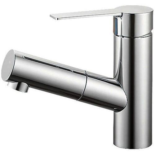SANEI (三栄水栓) 【洗面用 寒冷地仕様 】 シングルワンホール洗面混合栓 泡沫吐水