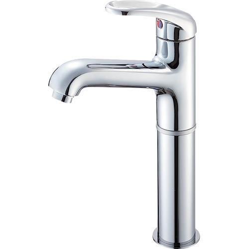 SANEI (三栄水栓) SANEI 【洗面所用混合栓】 シングルワンホール洗面混合栓 胴長タイプ 標準地仕様