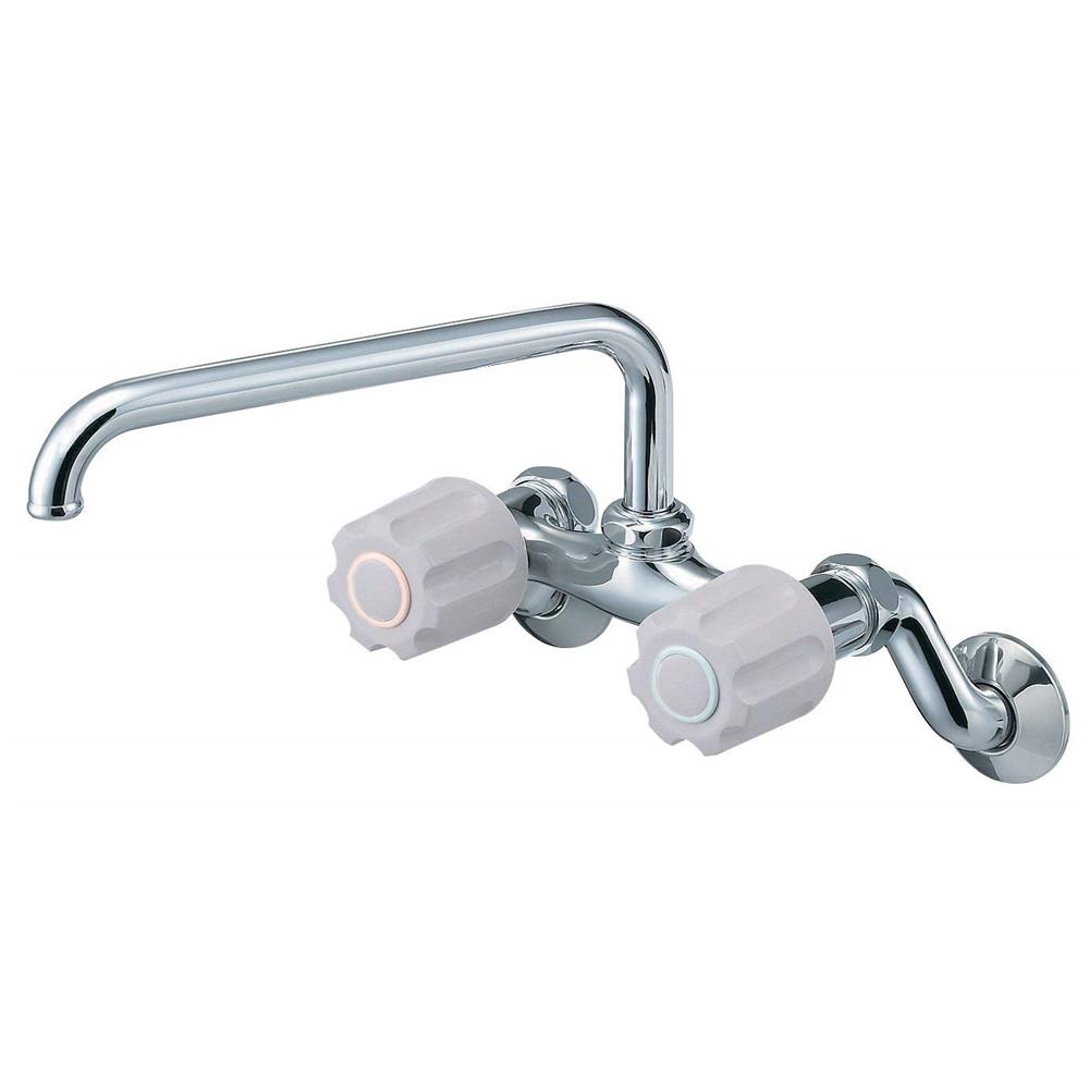 SANEI (三栄水栓) SANEI 【キッチン用混合栓】 ツーバルブ混合栓 上向き・ハンドル正面タイプ K231-LH