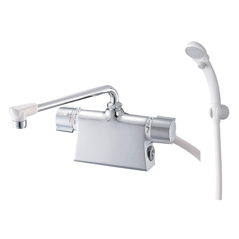 SANEI (三栄水栓) SANEI 【バス用混合栓】 サーモデッキシャワー混合栓 取付芯ピッチ120mm SK78501D-L