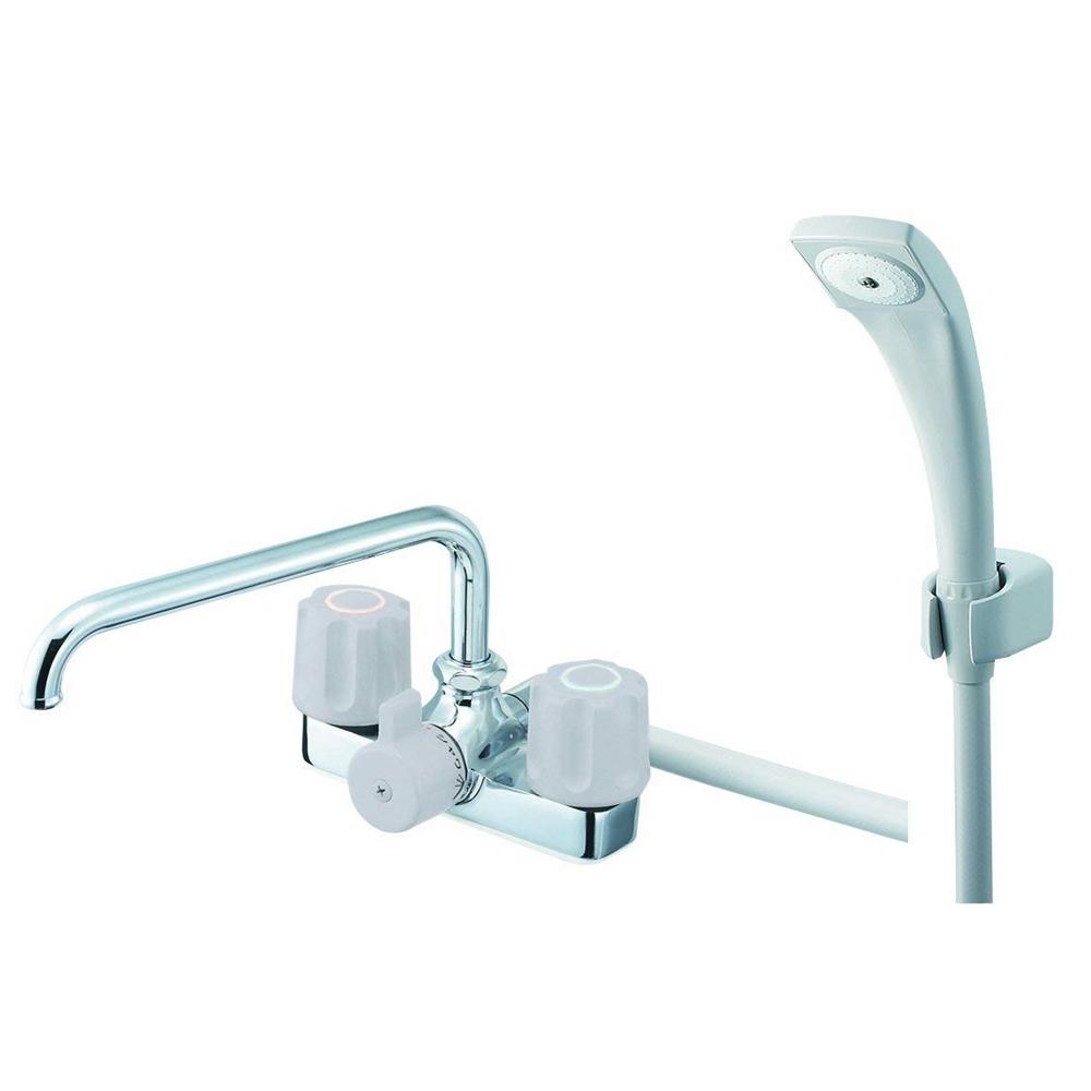 SANEI (三栄水栓) SANEI 【バス用混合栓】 ツーバルブデッキシャワー混合栓 SK710-LH-13