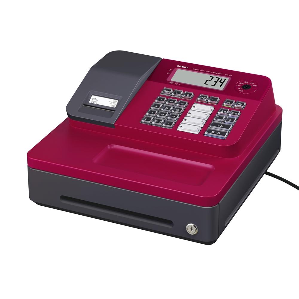 カシオ計算機 レジスター SE-G2-RD レジ カシオ 小型 領収書  レッド 【ラッキーシール対応】