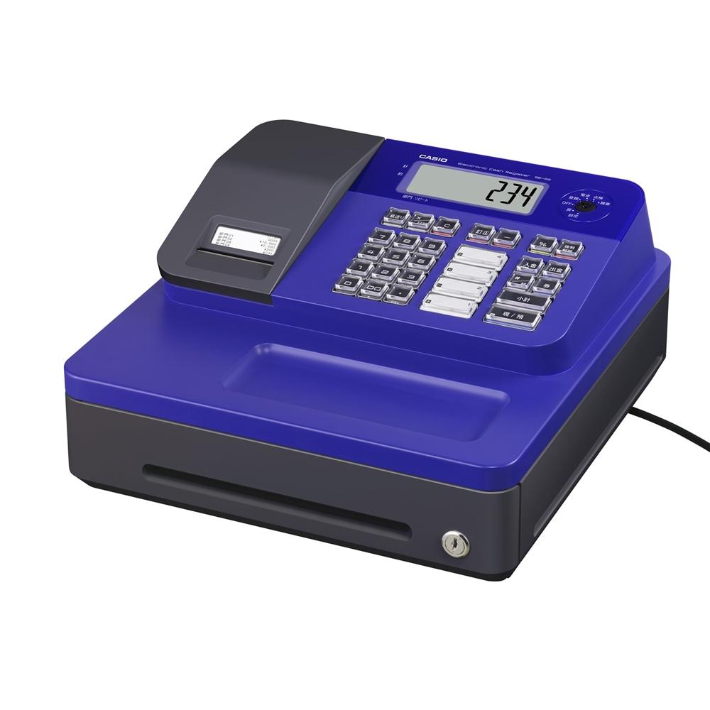 カシオ計算機 レジスター SE-G2-BU レジ カシオ 小型 領収書  ブルー