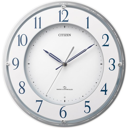 リズム時計工業 シチズン電波掛時計4MY823-003