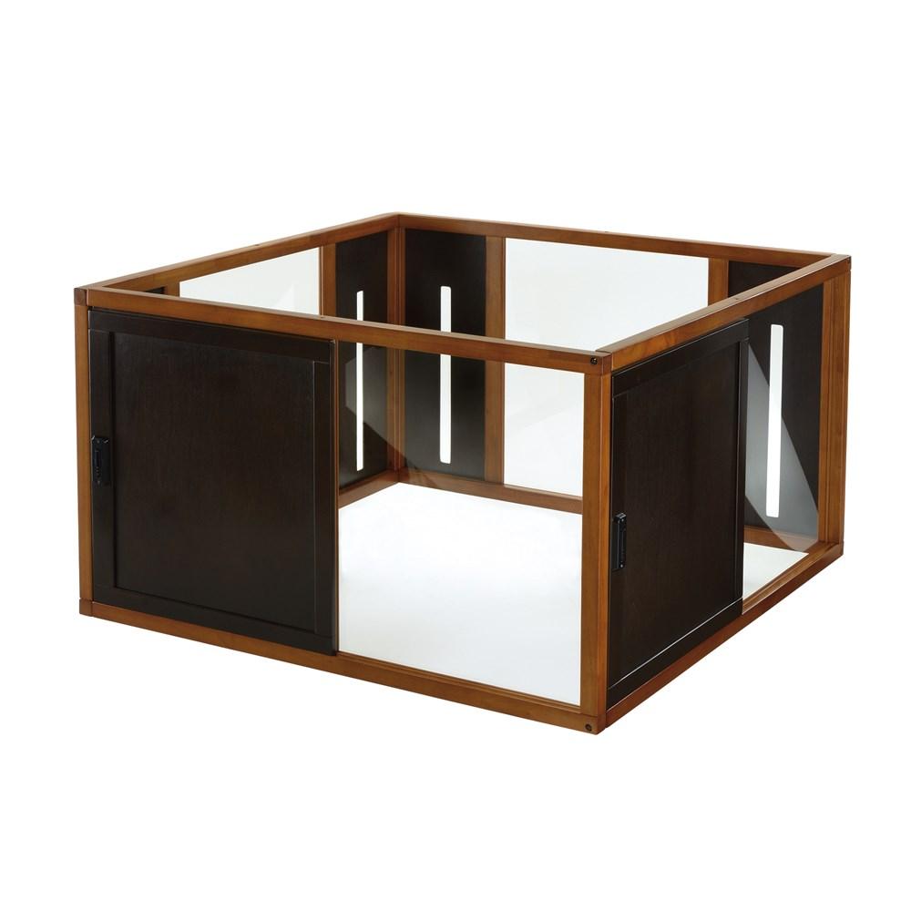 リッチェル 木製スクエアペットルーム120-120ダークブラウン【ラッキーシール対応】