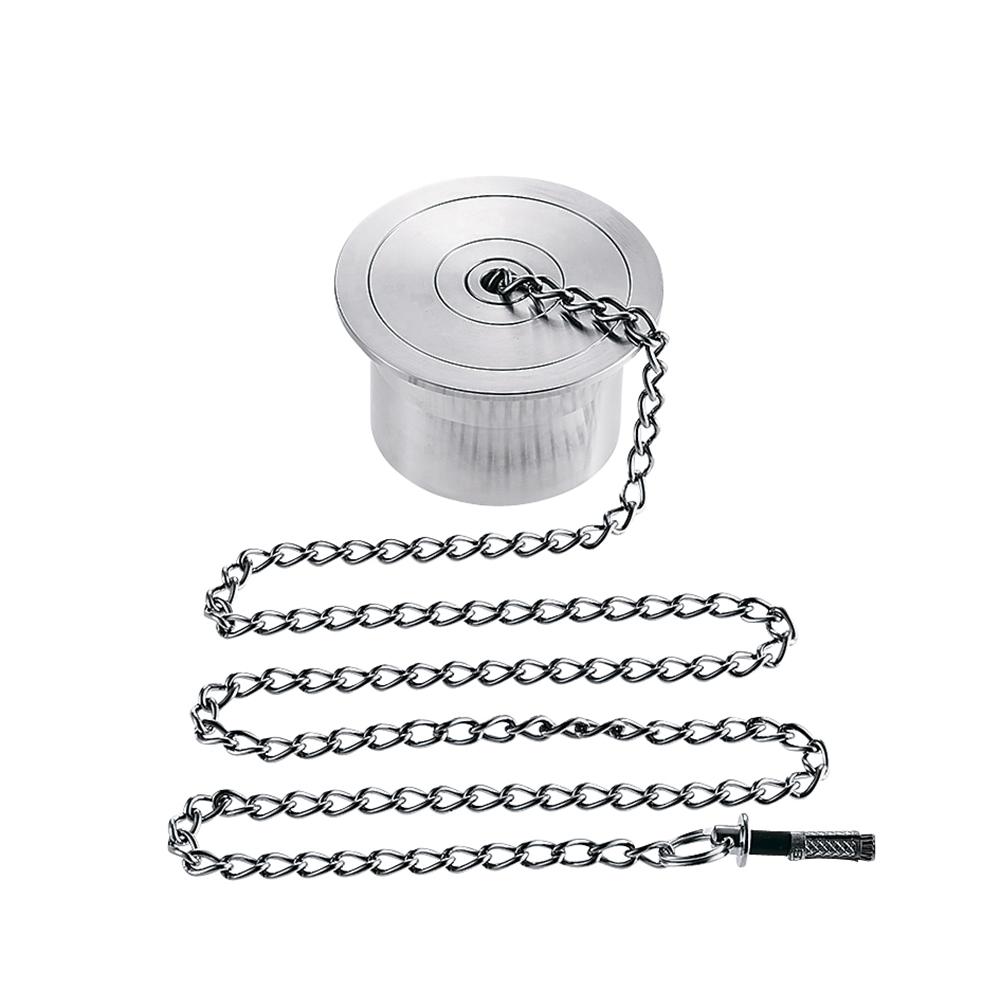 SANEI (三栄水栓) SANEI 【バス用親子共栓】 ステンレス栓・クサリ長さ1m H221-50サイズ50