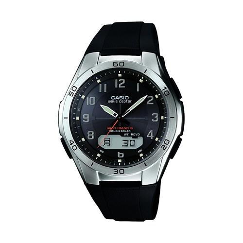 カシオ計算機 カシオ  電波ソーラー腕時計 WVAーM640-1A2JFブラック