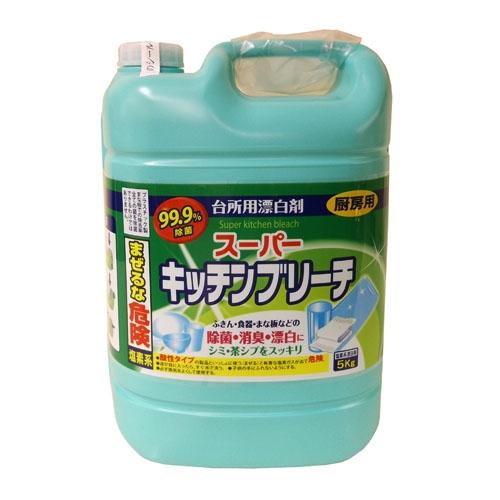 ふきん・食器・まな板などの除菌・消臭・漂白に シミ・茶シブをスッキリ ロケット石鹸 スーパーキッチンブリーチ 5kg