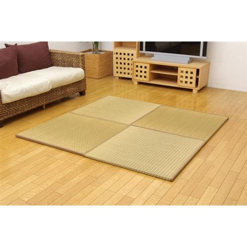 イケヒココーポレーション 純国産 ユニット畳 『右京』 ベージュ 82×82×2.5cm(6枚1セット)