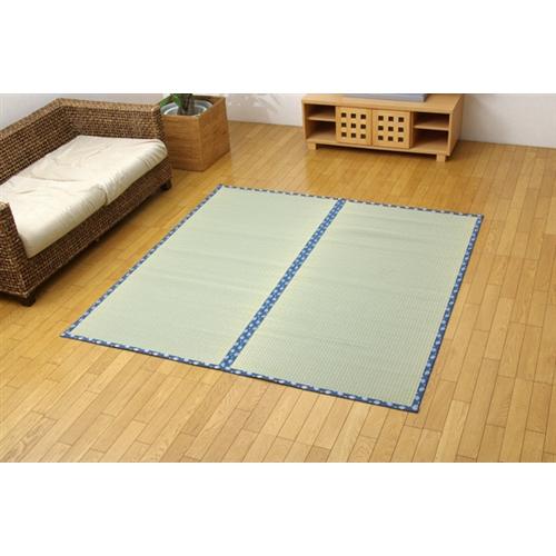 イケヒココーポレーション 純国産 糸引織 い草上敷 『岩木』 江戸間6畳(261×352cm)