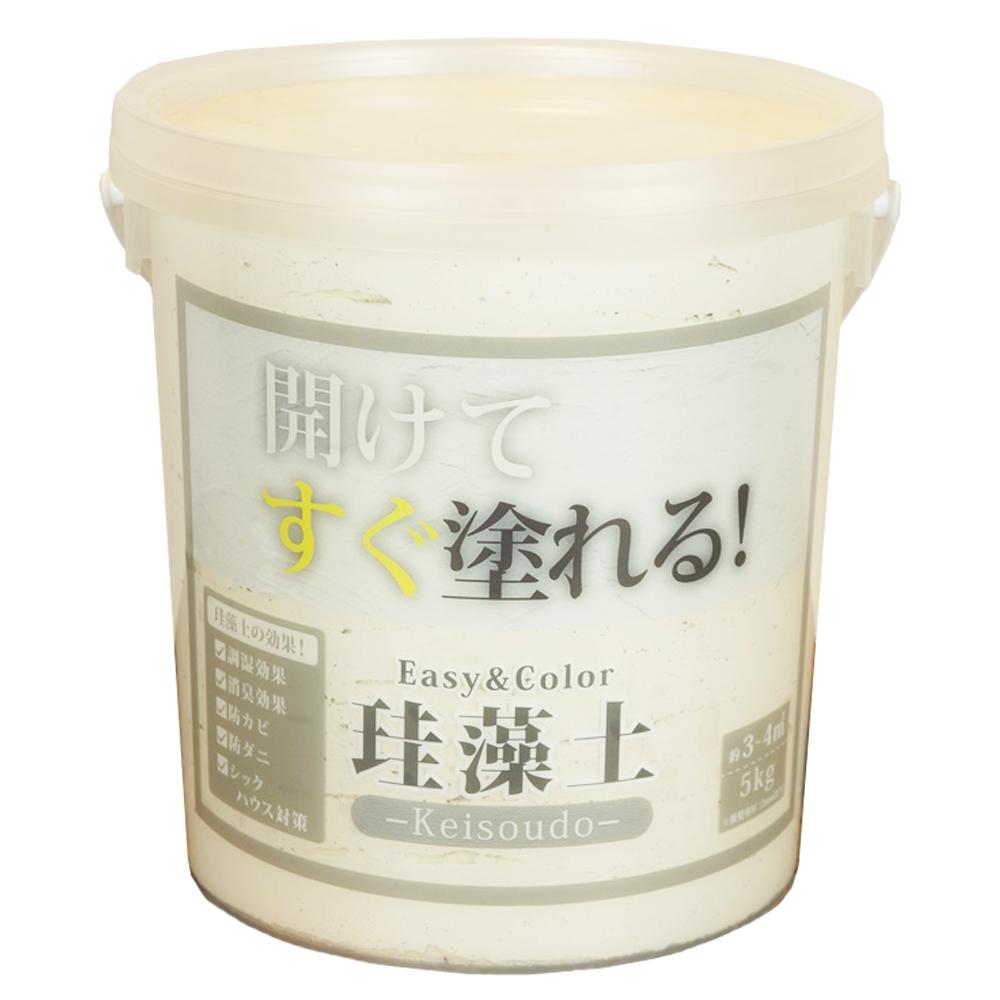 ワンウィル Easy&Color珪藻土 5kg オフホワイト 3793060002