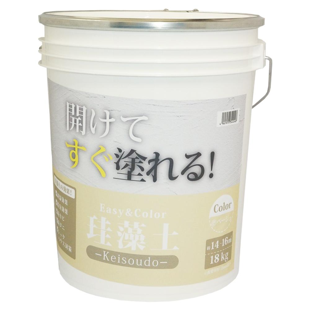 ワンウィル Easy&Color珪藻土 18kg ベージュ 3793060017
