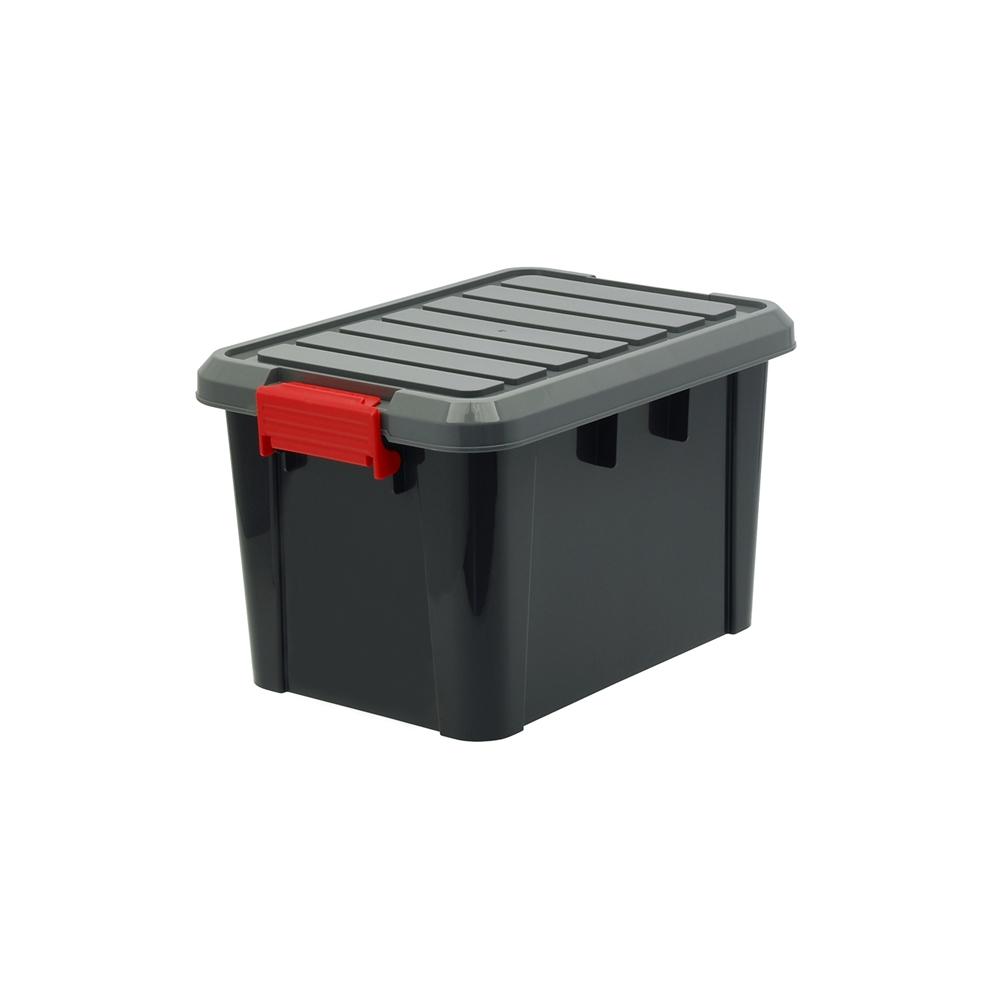 コーナン オリジナルLIFELEX(ライフレックス) ハードコンテナ KHC-02ブラック ×15個セット