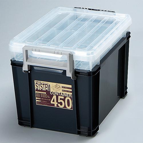 アステージ システムコンテナ450 ブルー 379×558×390mm 4個セット