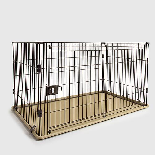 スライドサークル L チョコブラウン ペットサークル ペットケージ 犬 犬小屋 サークル ケージ ハウス コーナン