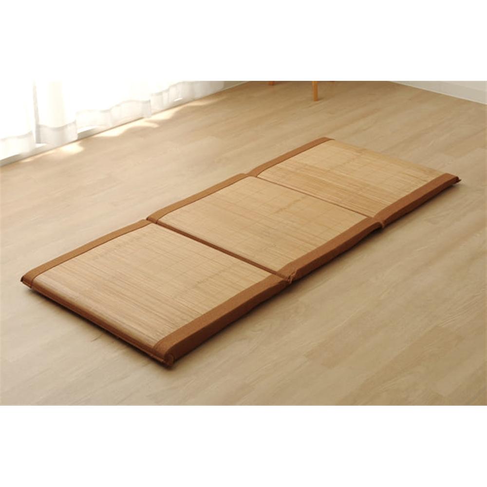 イケヒコ・コーポレーション(IKEHIKO)  プレス竹使用 フリーマット 「竹Fマット」 ブラウン 約60×150cm (中材:固綿)