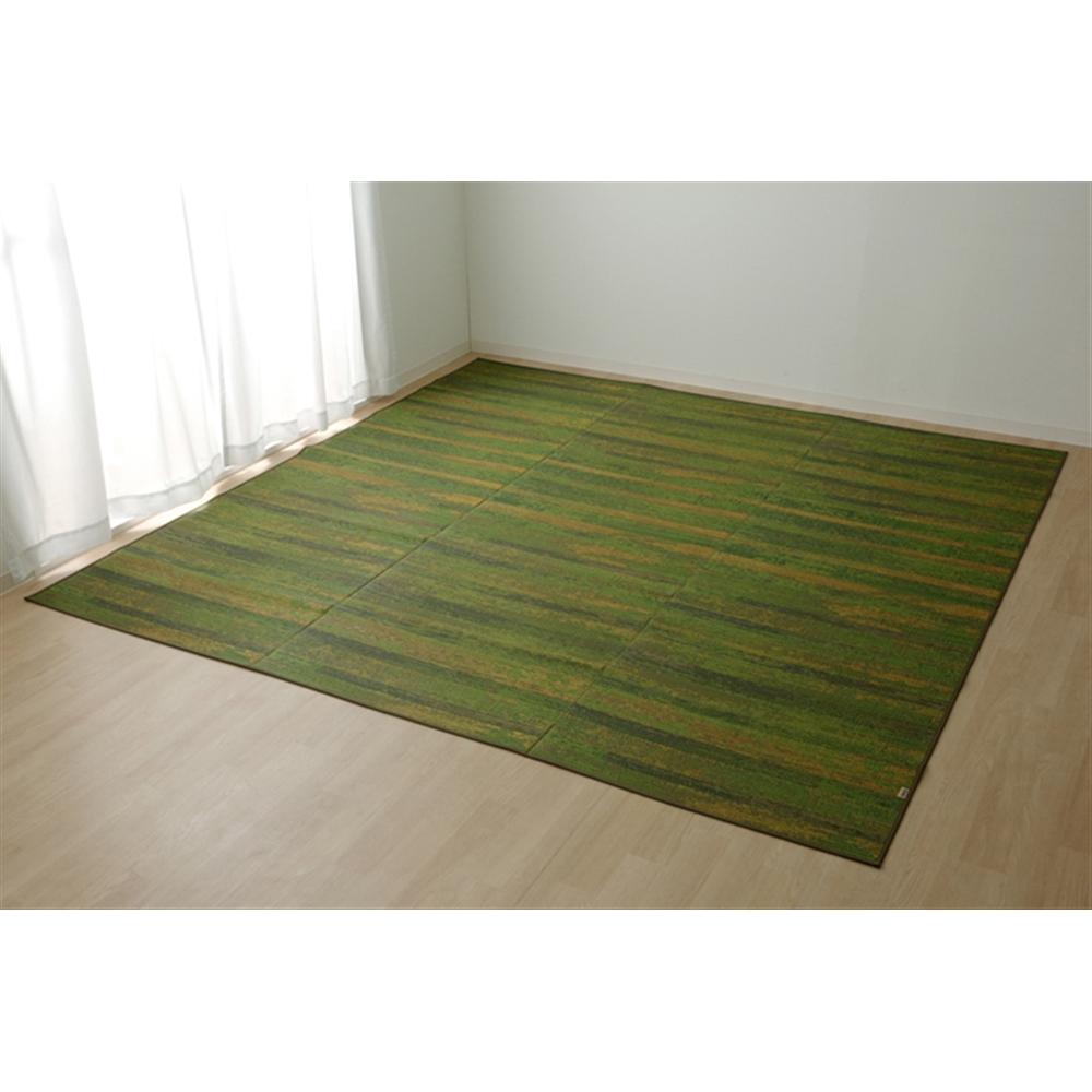イケヒコ・コーポレーション(IKEHIKO)  純国産 い草花ござカーペット 『カイン』 グリーン 江戸間3畳(約174×261cm)江戸間3畳 グリーン