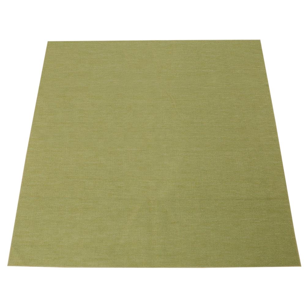 折りたたみカーペット『スマイル』 グリーン 江戸間8帖(約352×352cm) カーペット 8畳 おしゃれ ラグ ラグマット マット ラグカーペット 絨毯 リビング