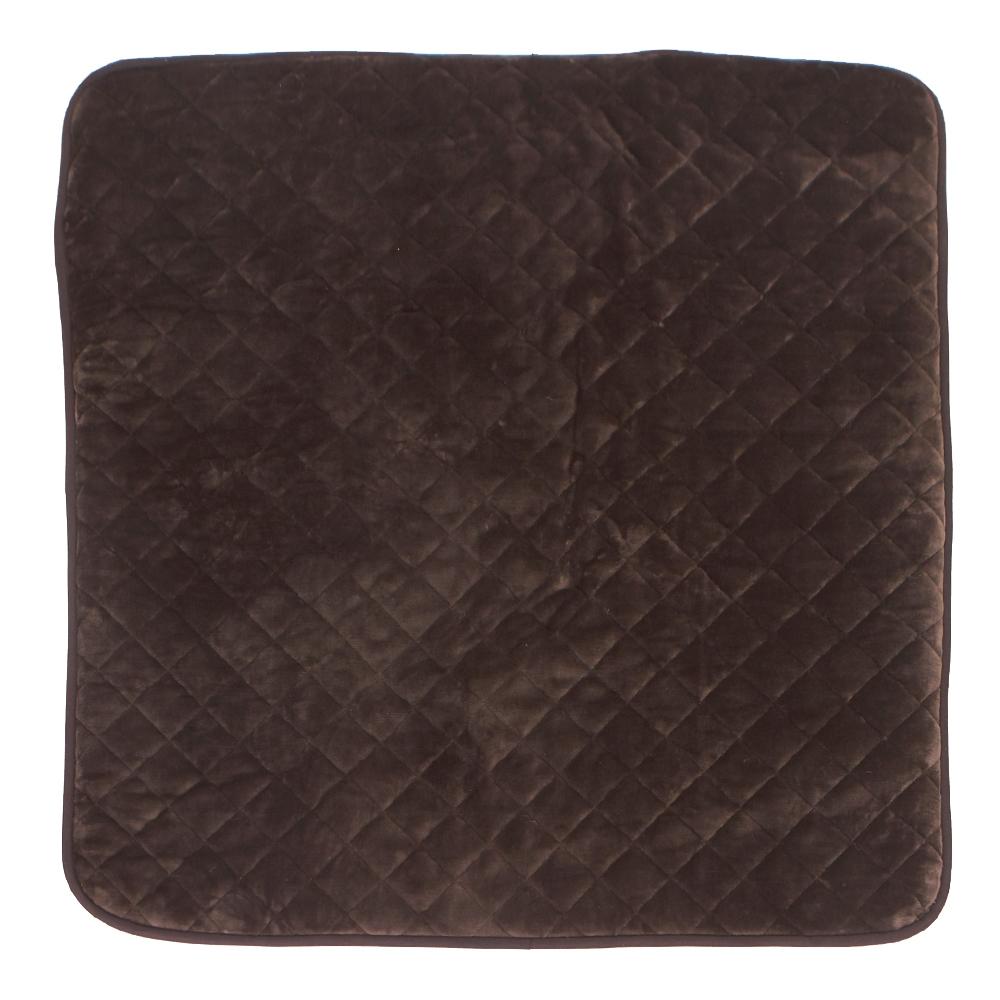 山善(YAMAZEN) 洗えるどこでもカーペット スクエアタイプ YWC-131F(T) 1 ブラウン 幅1300×奥行1300×高さ20mm