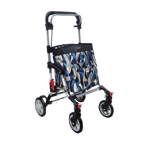 送料無料!島製作所 シルバーカー アドリブ GCブルー ショッピングカートとしても使えます コンパクトタイプ 保冷バッグ
