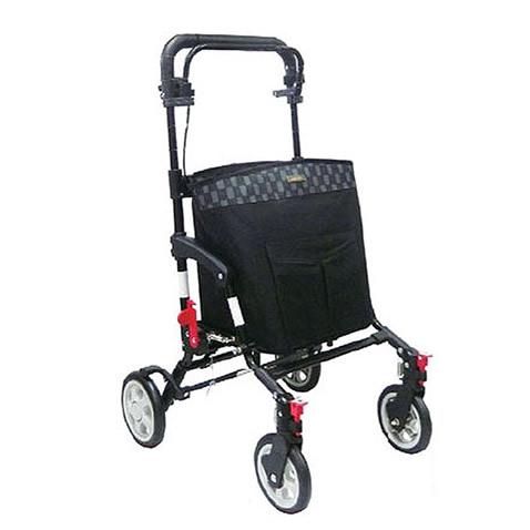 島製作所 シルバーカー アドリブ ブラック 黒 コンパクトタイプ 保冷バッグ ショッピングカートとしても使えます送料無料