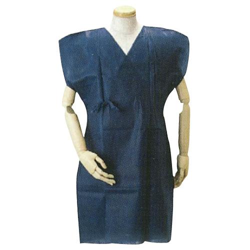検査着(濃紺レントゲン)袖なし・紐 105cm 100)枚入  病院 クリニック 検査 手術 患者着【05P05Dec15】