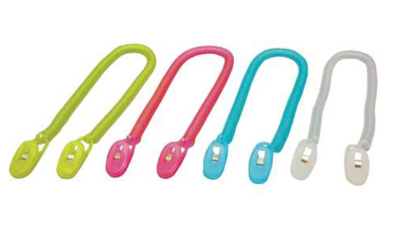 ビブクリップ エプロン クリップ ファーストレイト ホワイト ブルー ピンク イエロー 4色×10袋 紙エプロン用