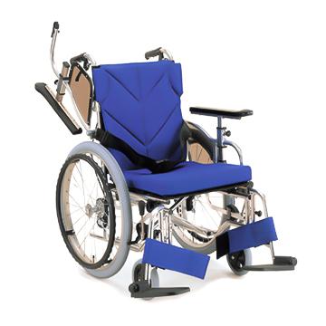 【送料無料】車椅子 軽量 折り畳み アルミ製 自走用車椅子 低床型簡易モジュール KZ20-SL超低床タイプ(前座高:38cm)