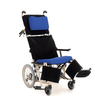 【送料無料】ぴったりフィットシリーズ ティルティング&リクライニング介助式車椅子ぴったりフィットKPF16(前座高:46cm)≪検索用≫【05P05Dec15】
