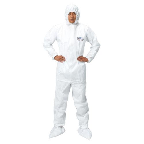 クリーンガードA40 ツナギ服 フード付  ●品番:68723 サイズ:L 入数:25枚 不織布製 使い捨て防護服 感染予防 つなぎ【05P05Dec15】