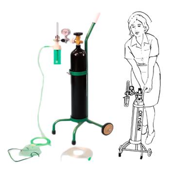 エマジン オキシゲンシステム 酸素吸入器(キャリータイプ)  ブルークロス 品番:1610220 OX-500V 呼吸困難 救急用 災害用 介護用  酸素欠乏 救命【05P05Dec15】