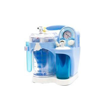 小型吸引器 パワースマイル KS-700 ブルー 2種類の洗浄ブラシ付 【鼻炎】【鼻水吸引】【痰吸引】